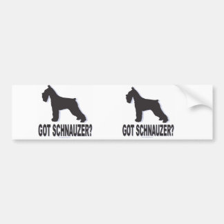 Got Schnauzer? Bumper Sticker