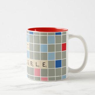 Got Scrabble Two-Tone Coffee Mug