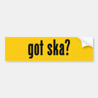 got ska? bumper sticker