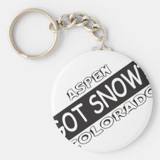 Got Snow - Aspen Basic Round Button Key Ring