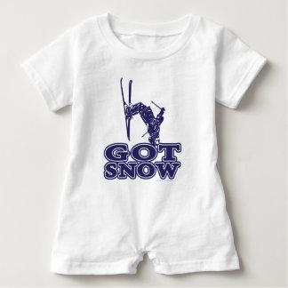 Got Snow Snow Skier Baby Bodysuit