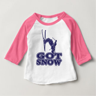 Got Snow Snow Skier Baby T-Shirt
