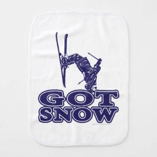 Got Snow Snow Skier Burp Cloth