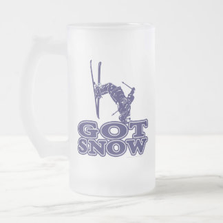 Got Snow Snow Skier Frosted Glass Beer Mug