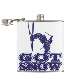 Got Snow Snow Skier Hip Flask