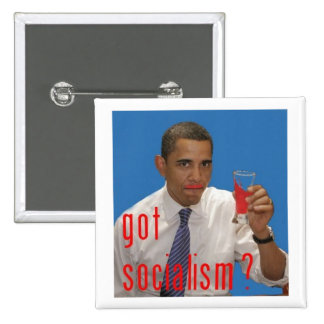 got socialism? 15 cm square badge