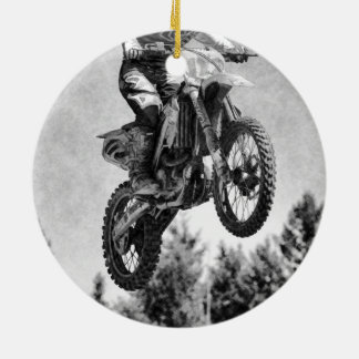 Got Some Air! - Motocross Racer Round Ceramic Decoration