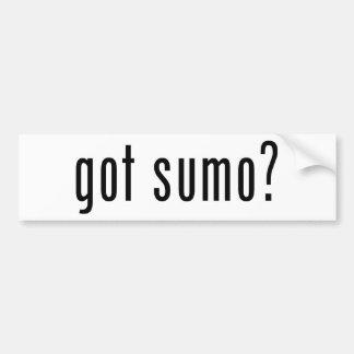 got sumo? bumper sticker