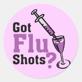 Got sWine Flu shots ? Classic Round Sticker