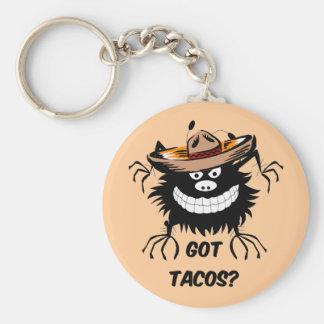 got tacos basic round button key ring