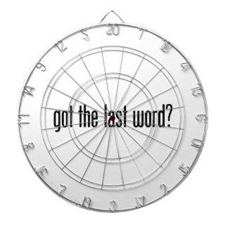 got the last word dartboard with darts