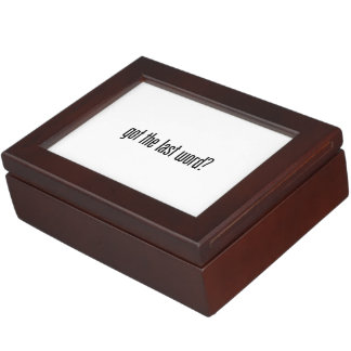 got the last word memory boxes