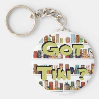 Got Tiki ? Basic Round Button Key Ring
