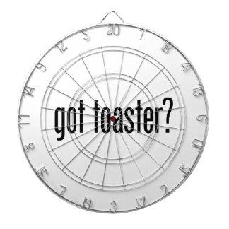 got toaster dartboard with darts