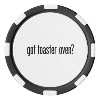 got toaster oven poker chips set