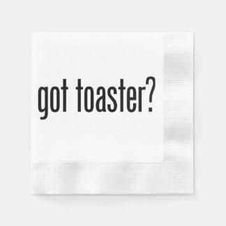got toaster paper napkin