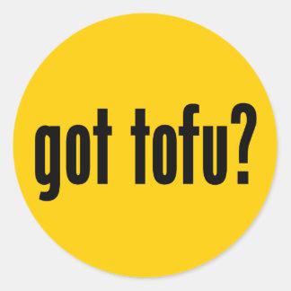 got tofu? classic round sticker