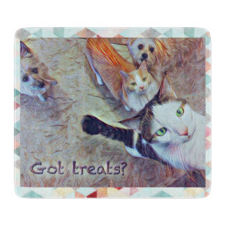 Got Treats? Small 6 x 7 Cutting Board