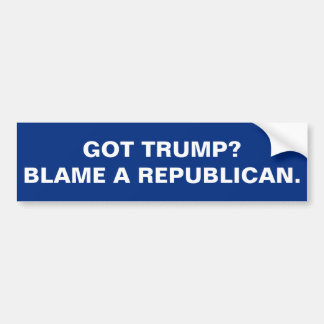 GOT TRUMP? BLAME A REPUBLICAN. BUMPER STICKER