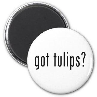 got tulips? 6 cm round magnet