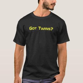 Got Twins? Yellow on Black T-Shirt