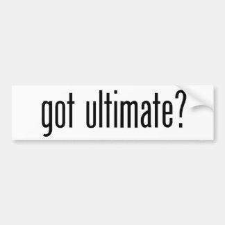 got ultimate? bumper sticker
