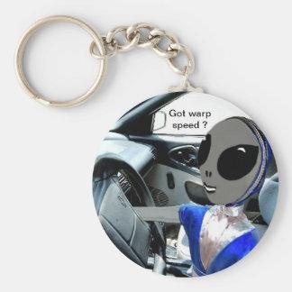 Got Warp Speed? Basic Round Button Key Ring