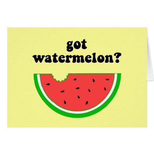Got watermelon? greeting card