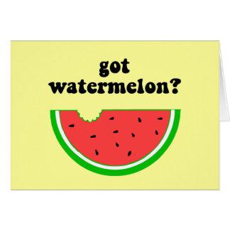 Got watermelon greeting card
