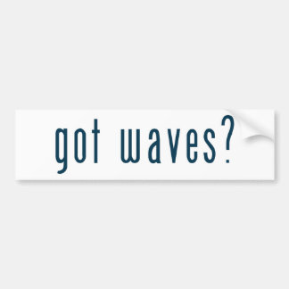 got waves bumper sticker