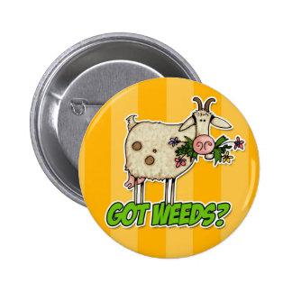 got weeds goat 6 cm round badge