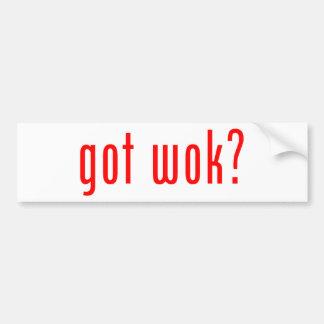 got wok? bumper stickers