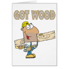 got wood carpenter humour funny design card