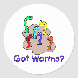 Got Worms Classic Round Sticker