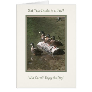 Got Your Ducks in a Row? Card