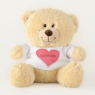 Gotcha Adopted Adoption Design Teddy Bear