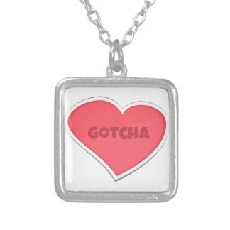 Gotcha Adoption Design Silver Plated Necklace