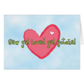 Gotcha Day Adoption Anniversary Heart Card