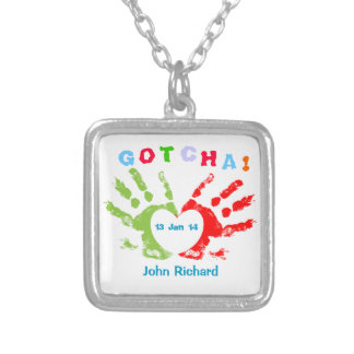 Gotcha Day! Silver Plated Necklace