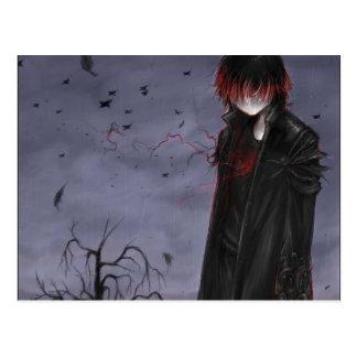 Goth Anime Guy Postcard