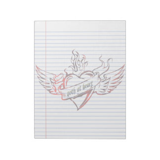 Goth at Heart Tattoo Art Lined Notepad