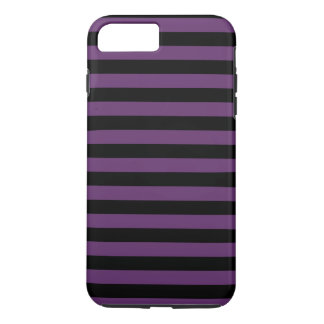 Goth Black and Purple Stripes iPhone 7 Plus Case