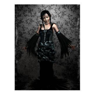 Goth Black Postcard
