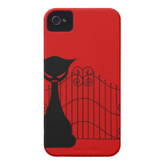 Goth Cat Silhouette Blackberry Bold Case