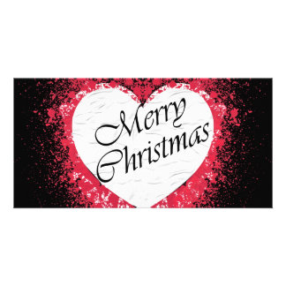 Goth Christmas Photo Greeting Card