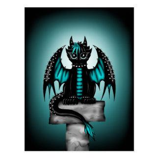 Goth Dragon Postcard