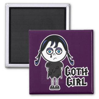 Goth Emo Girl Fridge Magnets