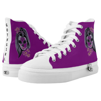 GOTH GIRL BOOTS HIGH TOPS