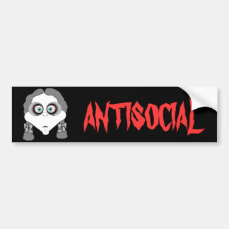 Goth Girl Bumper Sticker