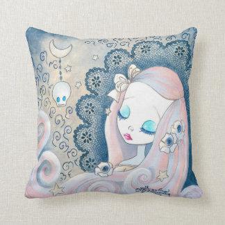"""Goth Girl: """"Leila"""" Cushion"""